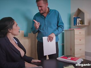 Go off at a tangent busty secretary is a perfect fuck slut with an increment of she gives good head