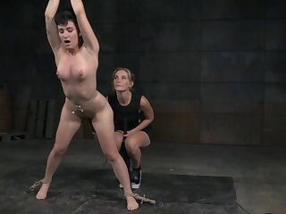 Sensual torture session with pornstars Joey Minx together with Mona Wales