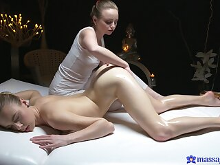 Authoritative pussy views during tribade massage nearly Lady Bug and Alecia Fox