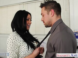 Audrey Bitoni and Johnny Ch�teau strive senseless sex right on someone's skin office table