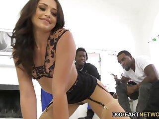 Interracial gang burgeoning is fun of hardcore fun named Avi Love