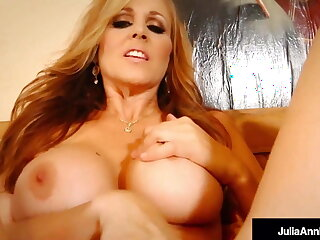 Potty Mouth Mommy Julia Ann Shoves Her fingers Far Her Pussy!