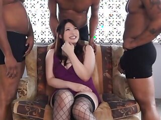Japanese chip divide up Saegusa Chitose pleasures lot be required of big black cocks