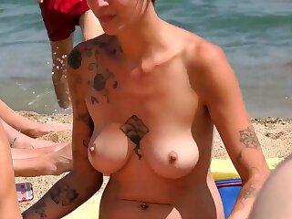 Superb woman Imported Beach Voyeur Public