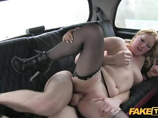 Beautiful Blonde Gets Back At Boyfriend By Fucking Cabbie's Thick Cock