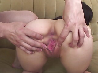 Arisa nakano bends over for an anal plaything fucking